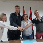 Fotografia de l'acord entre Reus Deportiu i Centre de Lectura