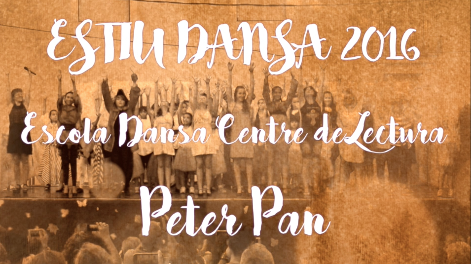 Captura del vídeo de Peter Pan de l'Escola de Dansa