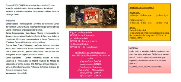 Programa estiu 2018 - Musical Pinotxo